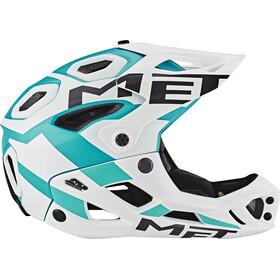 MET Parachute Helm white/cyan